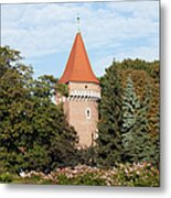 Pasamonikow Tower And Planty Park In Krakow Metal Print