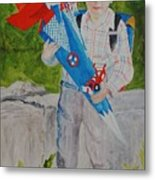 Pascals first day at school 2004 Metal Print