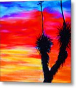 Paso Del Norte Sunset 1 Metal Print