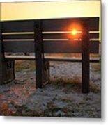Pass-a-grille Glow Metal Print