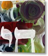 Passages 2- Abstract Art By Linda Woods Metal Print