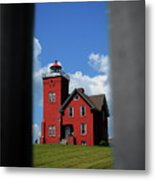 Passageway To The Two Harbors Lighthouse Metal Print