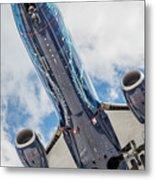 Passenger Jet Coming In For Landing 3 Metal Print