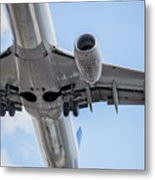 Passenger Jet Coming In For Landing 7 Metal Print