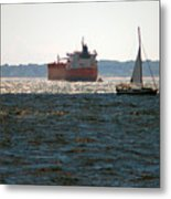 Passing Ships Metal Print