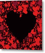 Passionate Love Heart Metal Print