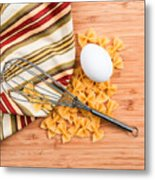 Pasta Egg And Whisk Metal Print