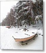 Pastel Boat Metal Print