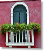 Pastel Colors Of Burano  Metal Print