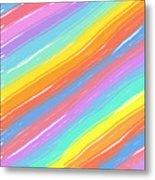 Pastel Diagonals Metal Print