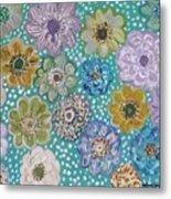 Pastel Floral Garden Metal Print