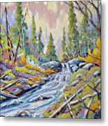 Pastel Forest Metal Print
