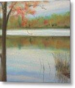 Pastel Lake Metal Print
