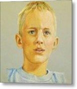 Pastel Portrait Of Aaron Metal Print