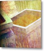 Pastel Pottery Metal Print