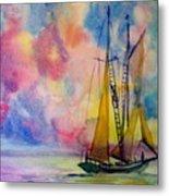 Pastel Sail Metal Print