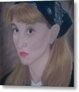Pastel Self Portrait Metal Print