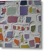 Pastel Shapes Metal Print