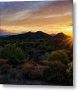 Pastel Sonoran Skies  Metal Print