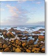 Pastel Tone Seaside Sunrise Metal Print