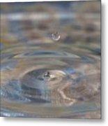 Pastel Water Sculpture 5 Metal Print
