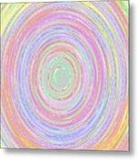 Pastel Whirlpool Metal Print