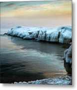 Pastels And Ice Metal Print
