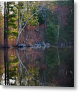 Pastels In Reflection  Metal Print