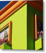 Pastle Corners Metal Print