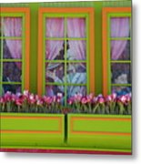 Pastle Windows Metal Print