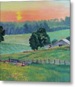 Pastoral Sunset Metal Print