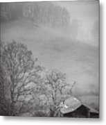 Pasture Field And Barn Metal Print