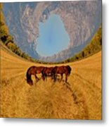 Pasture Of Another World Metal Print