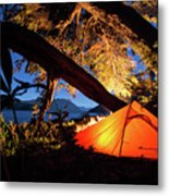 Patagonia Landscape Camping Metal Print