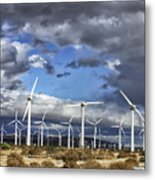 Patch Of Blue Palm Springs Metal Print