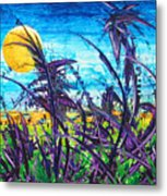 Patch Of Field Grass Metal Print