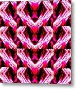 Patch Work Big Eyes Metal Print