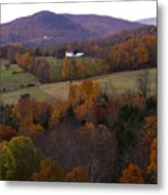 Patch Worked Mountains In Vermont Metal Print