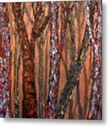 Patchwork Forest Metal Print
