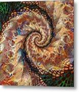 Patchwork Spiral Metal Print