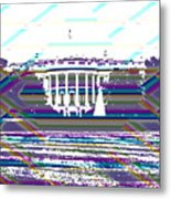 Patchwork White House Metal Print