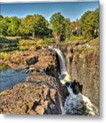 Paterson Water Falls Black And White Metal Print