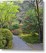 Path At Japanese Garden Metal Print