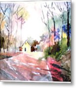 Path In Colors Metal Print