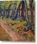 Path In The Garden Of The Asylum, By Vincent Van Gogh, 1889, Kro Metal Print