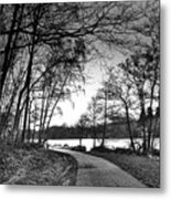 Path In The Park Metal Print