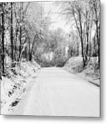 Path In The Snow Metal Print