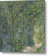 Path In The Woods Paris, May 1887 - July 1887 Vincent Van Gogh 1853  1890 Metal Print