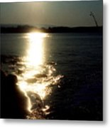 Path Of Sunlight On The Sea Metal Print