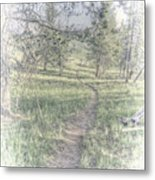 Path To Life Is Narrow Metal Print